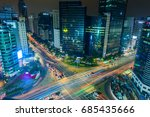 gangnam traffic in seoul  korea.... | Shutterstock . vector #685435666
