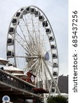 Small photo of CAPE TOWN, SOUTH AFRICA - CIRCA NOVEMBER 2016: The Cape Wheel at the Victoria and Alfred Waterfront