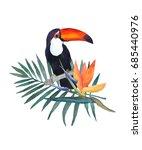 watercolor illustration on... | Shutterstock . vector #685440976
