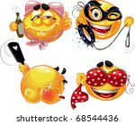adult party fun smiles | Shutterstock .eps vector #68544436