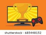 video game winner with award... | Shutterstock .eps vector #685448152