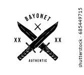 bayonet vintage stylized...   Shutterstock .eps vector #685449715