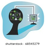 brain to pc   conceptual image...   Shutterstock .eps vector #68545279