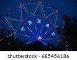 the ferris wheel in dallas... | Shutterstock . vector #685456186