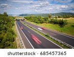 motion blurred cars on a... | Shutterstock . vector #685457365