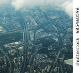 shenzhen city overlooking | Shutterstock . vector #685460596