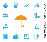 set of 13 budget icons set... | Shutterstock .eps vector #685463632