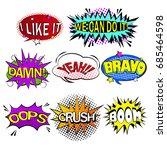 pop of cartoon speech bubble on ... | Shutterstock . vector #685464598