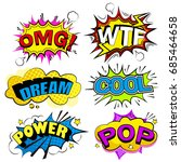 pop of cartoon speech bubble on ...   Shutterstock . vector #685464658