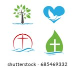church logo. christian symbols... | Shutterstock .eps vector #685469332