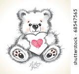 Hand Drawn Furry Teddy Bear...