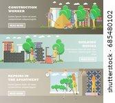 set of residential construction ... | Shutterstock . vector #685480102