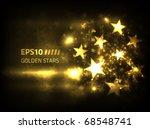 eps10 vector golden stars...   Shutterstock .eps vector #68548741