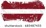 latvia flag grunge background.... | Shutterstock . vector #685487455