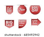 collection of sale banners ... | Shutterstock .eps vector #685492942
