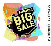 summer sale memphis style web... | Shutterstock .eps vector #685496608