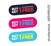 buy get 1 free tag design for... | Shutterstock .eps vector #685498105