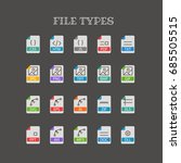 different file types thin line...