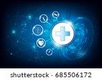 vector abstract tech health... | Shutterstock .eps vector #685506172