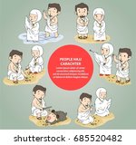 people hajj  character and... | Shutterstock .eps vector #685520482