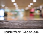 image of wooden table in front... | Shutterstock . vector #685523536