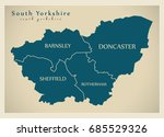 modern map   south yorkshire... | Shutterstock .eps vector #685529326