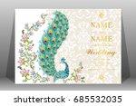 wedding invitation card... | Shutterstock .eps vector #685532035