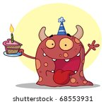 hyper partying monster with... | Shutterstock . vector #68553931