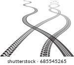 vector print textured tire... | Shutterstock .eps vector #685545265