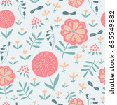 vector seamless pattern with...   Shutterstock .eps vector #685549882