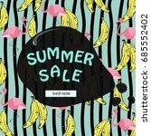 summer sale banner.sale poster...   Shutterstock .eps vector #685552402