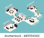 isometric vector design concept ... | Shutterstock .eps vector #685554202