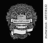 vintage frame label  vector...   Shutterstock .eps vector #685558132