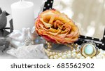Dry Rose On A Background Of...