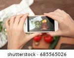 female hands taking photo of... | Shutterstock . vector #685565026