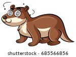 beaver with dizzy face... | Shutterstock .eps vector #685566856