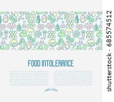 food intolerance concept with... | Shutterstock .eps vector #685574512