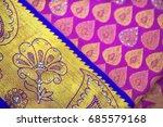 indian silk saree | Shutterstock . vector #685579168