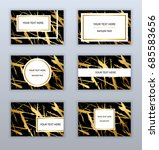 set of black and gold business... | Shutterstock .eps vector #685583656