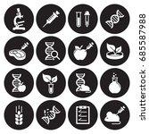 gmo  genetics icons set | Shutterstock .eps vector #685587988