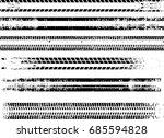tire tracks . dirty grunge... | Shutterstock .eps vector #685594828