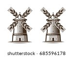 mill  windmill icon.... | Shutterstock .eps vector #685596178