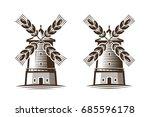 mill  windmill icon.... | Shutterstock .eps vector #685596178