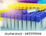 blood specimen tubes on the tray | Shutterstock . vector #685599046