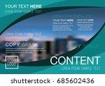 presentation layout design... | Shutterstock .eps vector #685602436