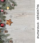 christmas decorations background | Shutterstock . vector #685604746