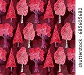 watercolor seamless pattern... | Shutterstock . vector #685605682