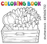 coloring book farm products... | Shutterstock .eps vector #685606732