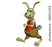Stock photo  d rendering in an easter bunny in outfit as illustration 68561245