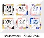 modern promotion square web...   Shutterstock .eps vector #685619932